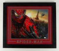 "Stan Lee Signed ""Marvel- Spiderman"" 23.5"" x 27.5"" Custom Framed Photo Display (JSA COA)"