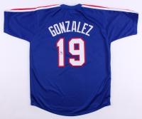 Juan Gonzalez Signed Rangers Jersey (JSA COA) at PristineAuction.com