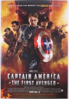 """Stan Lee Signed """"Captain America: The First Avenger"""" 27x40 Movie Poster (Lee Hologram)"""