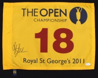 Phil Mickelson Signed 2011 The Open Championship Golf Pin Flag (JSA LOA)