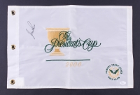 """Nick Price signed 2000 """"The Presidents Cup"""" 13x20 Flag (JSA COA)"""