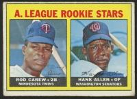 1967 Topps #569 Rookie Stars Rod Carew RC / Hank Allen RC DP