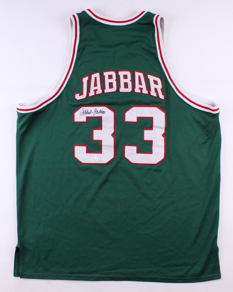 91fd7266e Kareem Abdul-Jabbar Signed Bucks Jersey (JSA COA) at PristineAuction.com