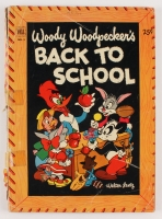 "Vintage 1952 ""Woody Woodpecker's Back to School"" Issue #1 Comic Book"