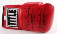 Leon Spinks & Michael Spinks Signed Title Boxing Glove (JSA COA)