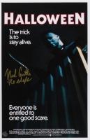 "Nick Castle Signed ""Halloween"" 11x17 Poster Inscribed ""The Shape"" (Legends COA)"