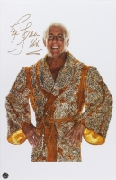 "Ric Flair Signed 11x17 Photo Inscribed ""16X"" (Legends COA)"