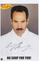 "Larry Thomas Signed Seinfeld ""No Soup For You!"" 11x17 Photo (Legends COA)"