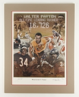 """Walter Payton Signed LE Bears """"Whatever It Takes"""" 22"""" x 28"""" Matted Lithograph Display (JSA Group ALOA)"""
