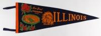"Illinois Fighting Illini Football Original Full-Size Vintage 29"" 1964 Rose Bowl Pennant at PristineAuction.com"