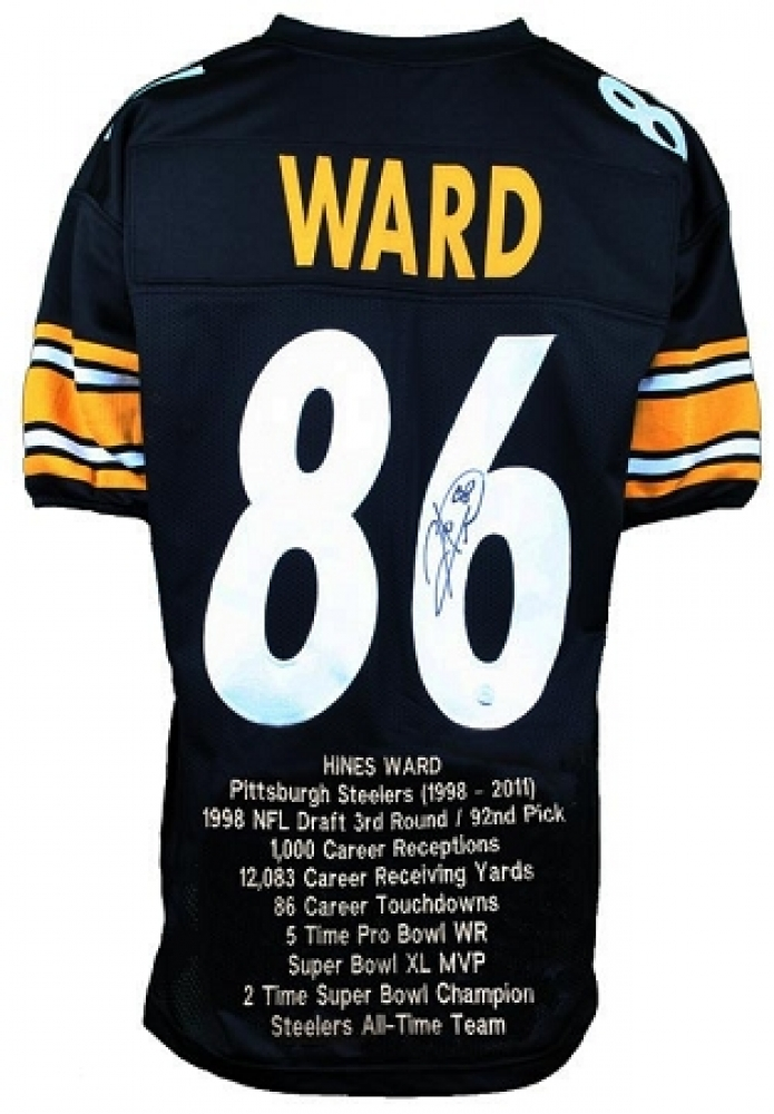 08f5cf4683e Hines Ward Signed Steelers Career Highlight Stat Jersey (TSE) at  PristineAuction.com