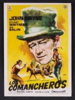 """Vintage 1961 John Wayne """"Los Comancheros"""" 3.5"""" x 5"""" Original Theatrical Movie Herald"""