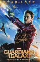 "Chris Pratt Signed ""Guardians of the Galaxy"" 11"" x 17"" Movie Poster Photo (JSA COA)"