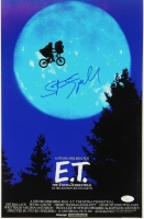 "Steven Spielberg Signed ""E.T."" 11""x17"" Movie Poster Photo (JSA COA)"