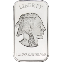 Lot of (10) American Buffalo Design 1 oz. .999 Fine Silver Bullion Bars (Brilliant Uncirculated & Sealed) at PristineAuction.com