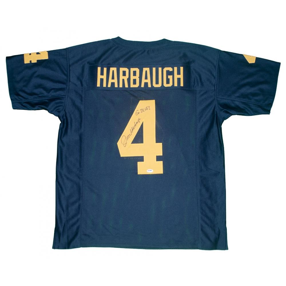 Jim Harbaugh Signed Michigan Wolverines