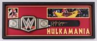 "Hulk Hogan Signed Hulkamania 15.5"" x 39.5"" x 2"" Custom Framed WWE Championship Belt Shadowbox Display (JSA COA)"