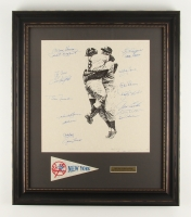 "New York Yankees Team-Signed 1956 World Series Champions 22"" x 25.5"" Custom Framed Photo Display with (17) Signatures Including Yogi Berra, Phil Rizzuto, Enos Slaughter, Whitey Ford, Don Larsen, Hank Bauer (PSA LOA) at PristineAuction.com"