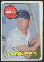1969 Topps #500B Mickey Mantle WL / Mantle in white