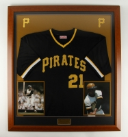 "Roberto Clemente Pirates 35.5"" x 39.5"" Custom Framed Jersey Display"
