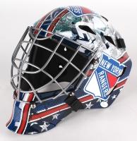 Henrik Lundqvist Signed Rangers Full-Size Goalie Mask (JSA COA)