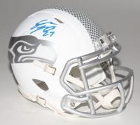 Eddie Lacy Signed Seahawks Custom Matte White ICE Speed Mini Helmet (Lacy Hologram)