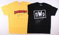 Lot of (2) Hulk Hogan Signed Wrestling T-Shirts (Schwartz COA)