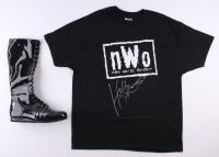 Lot of (2) Hulk Hogan Signed Wrestling Items with T-Shirt & Boots (Schwartz COA)