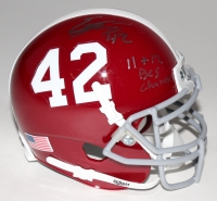 """Eddie Lacy Signed Alabama Mini-Helmet Inscribed """"11 & 12 BSC Champs"""" (Smith Hologram)"""