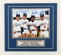 """Dodgers """"Record Setting Infield"""" 13"""" x 14"""" Photo Custom Photo Display signed by (4) with Ron Cey, Bill Russell, Davey Lopes & Steve Garvey  ( SOP COA)"""