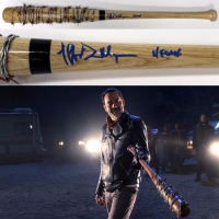 "Jeffrey Dean Morgan Signed The Walking Dead ""Lucile"" Barbed Wire Prop Replica Baseball Bat Inscribed ""Negan"" (JSA)"