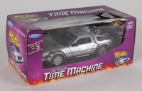 "Christopher Lloyd Signed ""Back to the Future"" DeLorean Time Machine 1:24 Diecast Car (PSA Hologram)"