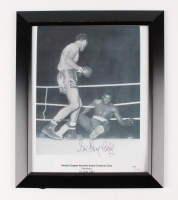 "Henry Cooper Signed 10"" x 12""Custom Framed Photo Display (JSA COA)"