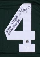 "Brett Favre Signed Packers Jersey Inscribed ""508 TDs"", ""71,838 Yds"", ""185 Wins"", ""3x MVP"" & ""297"" (JSA COA & Brett Favre COA) at PristineAuction.com"