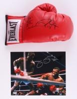"Lot of (2) Signed Boxing Items with James ""Buster"" Douglas & Roy Jones Jr. (Schwartz COA)"