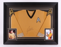 "William Shatner Signed Star Trek 28.5"" x 36.5"" Custom Framed Jersey (PSA COA)"