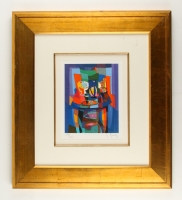 """Marcel Mouly Signed """"Le Compotier Bicolore"""" 22.5"""" x 25"""" LE Custom Framed Lithograph (PA LOA)"""