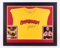 "Hulk Hogan Signed 27.5"" x 33.5"" Custom Framed Shirt Display (JSA COA)"