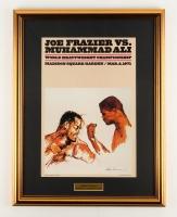 "LeRoy Neiman  ""Joe Frazier vs. Muhammad Ali"" 17"" x 22"" Custom Framed Poster Display"