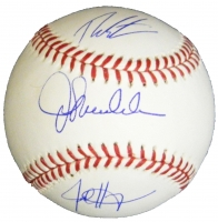 Joe Maddon, Theo Epstein & Jed Hoyer Triple Signed Rawlings Official MLB Baseball at PristineAuction.com