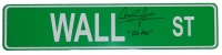 Charlie Sheen Signed Wall Street 4x18 Green Aluminum Street Sign w/Bud Fox at PristineAuction.com