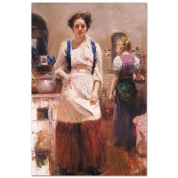 """Pino Signed """"The Country Chef"""" Limited Edition 24x36 Artist-Embellished Giclee on Canvas"""
