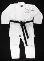 "Royce Gracie Signed Full-Size Authentic Judo Jiu-Jitsu Uniform Inscribed ""UFC HOF 03"" (PA COA)"