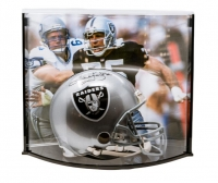 "Howie Long Signed LE Los Angeles Raiders Full-Size Authentic On-Field Helmet Inscribed ""HOF/00"" with Curve Display Case (Steiner COA)"