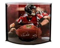 "Matt Ryan Signed Official NFL Game Ball Inscribed ""2016 NFL MVP"" with Curve Display Case (Fanatics Hologram)"
