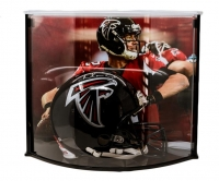 Matt Ryan Signed Atlanta Falcons Full-Size Authentic On-Field Helmet with Curve Display Case (Fanatics Hologram)