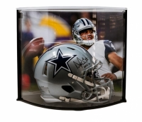 "Dak Prescott Signed LE Dallas Cowboys Full-Size Authentic On-Field Speed Helmet Inscribed ""ROTY 16"" with Curve Display Case (Steiner COA)"