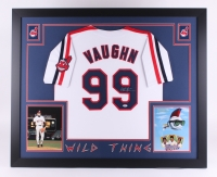 "Charlie Sheen Signed Major League ""Wild Thing"" 35"" x 43"" Custom Framed Jersey (PSA COA) (Imperfect)"