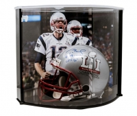 "Tom Brady Signed LE Patriots ""Super Bowl 51"" Full-Size Authentic Pro-Line Helmet Inscribed ""5x SB Champ"" & ""Let's Go!"" with Curve Display Case (TriStar)"