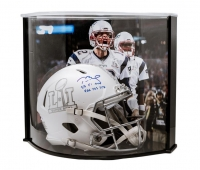 "Tom Brady Signed LE Super Bowl 51 Custom Matte White ICE Authentic Proline Speed Helmet Inscribed ""SB 51 MVP"" & ""466 YDS 2 TD"" with Curve Display Case (Tristar Hologram & Steiner COA) at PristineAuction.com"